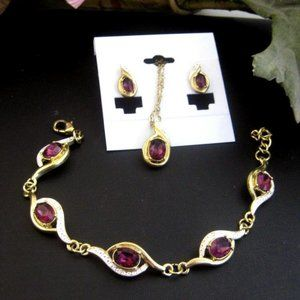 3 Pc Fashion Jewelry Set Necklace, Bracelet Earrin